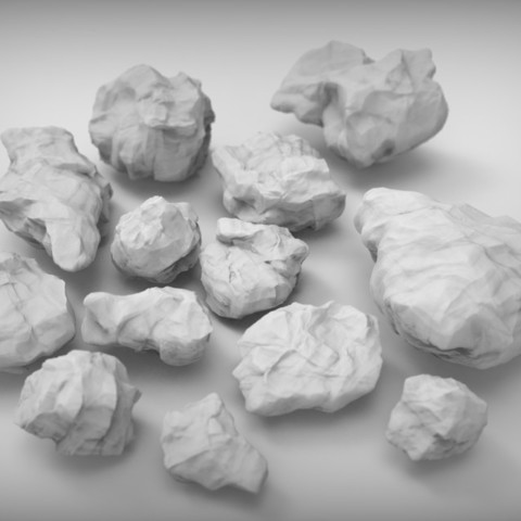 Download free 3D printer designs Rocks for wargaming (collection of 18 high res), BREXIT