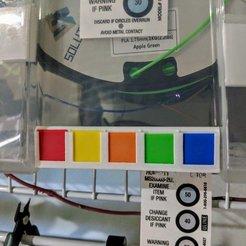 Modelos 3D gratis Kit de muestras de color de filamentos, nullgel