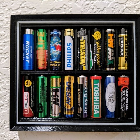 Free 3D print files AA Battery Display Frame, nullgel