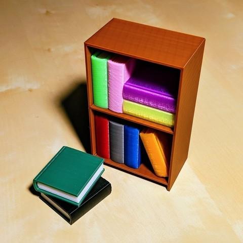 Free STL files Tiny Bookcase, nullgel