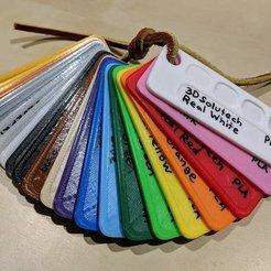 Descargar STL gratis Muestras de colores de filamentos, nullgel