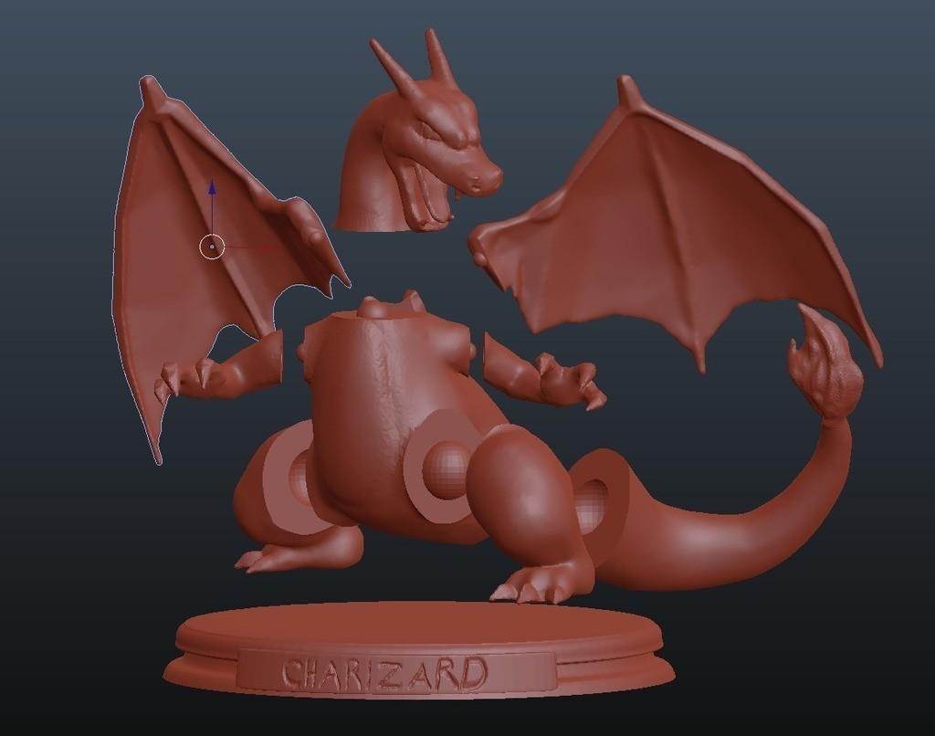 1bb9ff93937567fbdbaf47d5c5dff768_display_large.jpg Download free STL file Charizard • 3D print model, KerberosFi