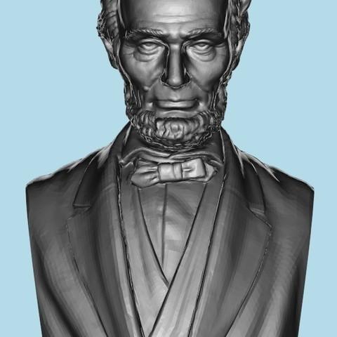 72ba537fea64fbab95b2ae67b65a354d_display_large.jpg Télécharger fichier STL gratuit Abraham Lincoln Buste • Objet imprimable en 3D, cody5