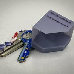 File_011-3.jpg Download free STL file Tame Impala - The Slow Rush PENDANT & KEYCHAIN • Model to 3D print, Emanuel_BV
