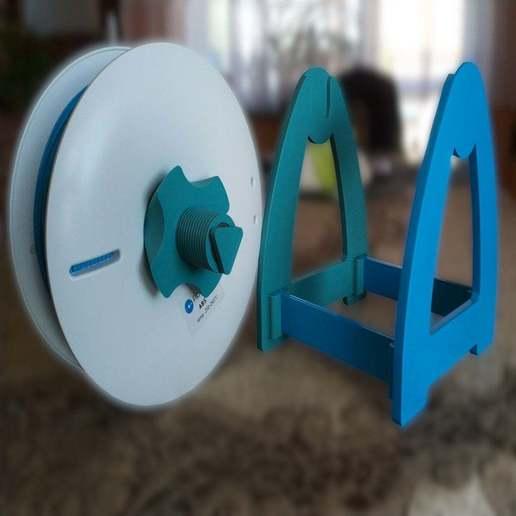 Spoolholder22.jpg Télécharger fichier STL gratuit Support de bobine • Design pour imprimante 3D, pawlo444444