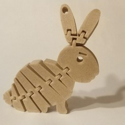 Free 3d model Flexi Rabbit Keychain, pawlo444444