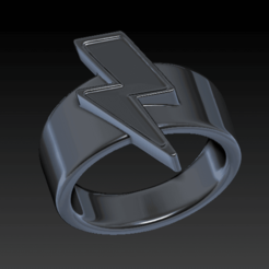 Screen Shot 2020-09-01 at 13.02.44.png Télécharger fichier STL Bowie Flash Ring • Design pour impression 3D, SpaceCadetDesigns