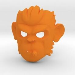 1.jpg Télécharger fichier STL Pogo le masque de singe GTA5 • Modèle imprimable en 3D, SpaceCadetDesigns