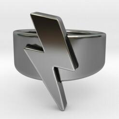 3.jpg Download STL file Lightning Bolt Ring   • 3D printer model, SpaceCadetDesigns