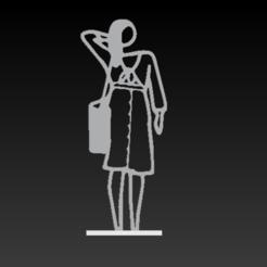 Screenshot 2020-11-19 at 10.25.53.png Download STL file Julian Opie Dress Statue • 3D printing design, SpaceCadetDesigns