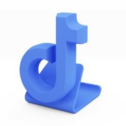 2.jpg Télécharger fichier STL Support téléphonique universel TikTok • Modèle pour imprimante 3D, SpaceCadetDesigns
