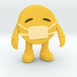 Image015.jpg Download STL file emoji face mask character  • 3D printable design, SpaceCadetDesigns