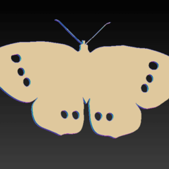 Screen Shot 2020-09-08 at 15.36.55.png Download STL file ringlet butterfly • 3D printing model, SpaceCadetDesigns