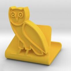 1.jpg Télécharger fichier STL Drake OVO Owl Support téléphonique universel • Plan pour impression 3D, SpaceCadetDesigns
