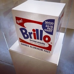 large.jpg Download STL file Andy Warhol Brillo Soap Pads Box • 3D printer model, SpaceCadetDesigns