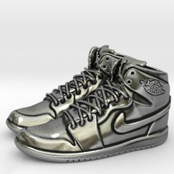 1.jpg Download STL file NIKE AIR JORDAN 1 FINGER SNEAKERS • 3D printing object, SpaceCadetDesigns