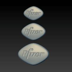 Screenshot 2020-09-30 at 19.06.53.png Download STL file viagra pills 100mg 50mg 25mg • 3D print object, SpaceCadetDesigns
