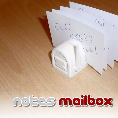 Download free 3D printer designs Notes Mailbox, Slagerqod