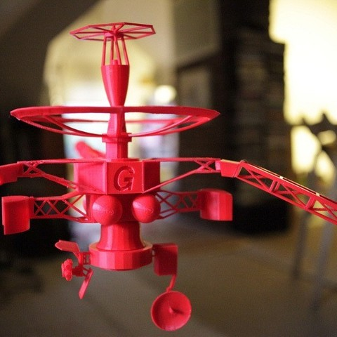 Download free STL file NASA - Galileo Spacecraft • 3D printable template, Slagerqod
