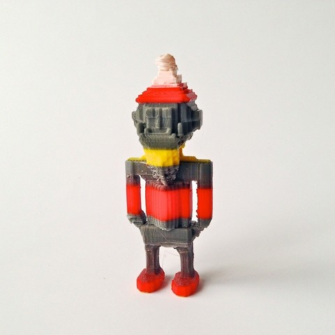 Download free 3D printing models 8 bit Santa Claus, Slagerqod