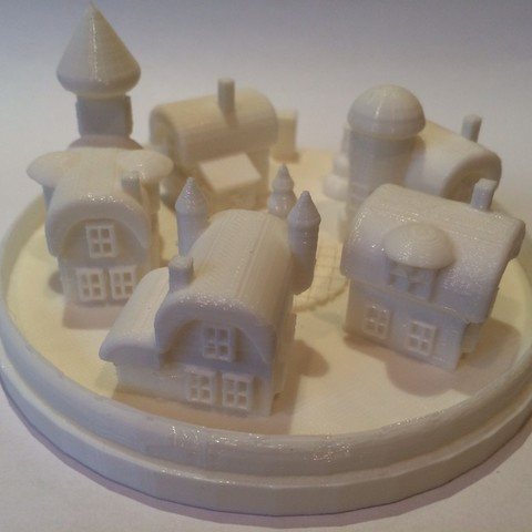 image222_display_large.JPG Download free STL file The village where the christmas elves living. • 3D printable template, Slagerqod