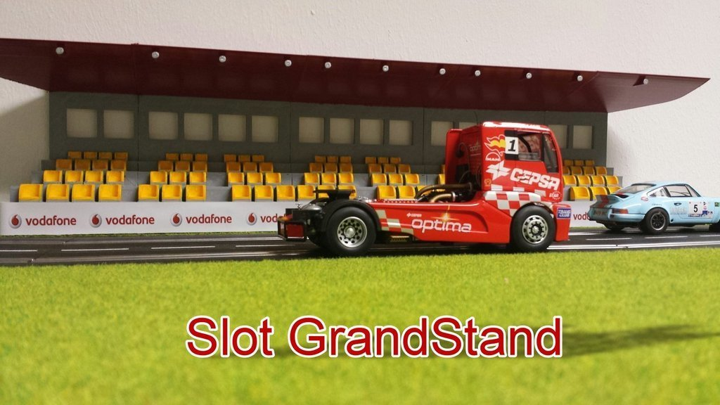 start_display_large.jpg Download free STL file Grand Stand for Slotcar circuit • 3D printer object, Slagerqod