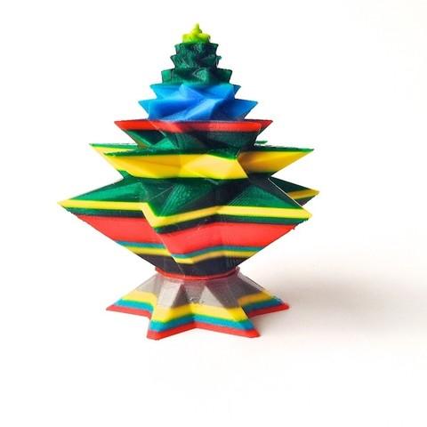 Download free STL file Christmas Tree Geometric • 3D printable template, Slagerqod