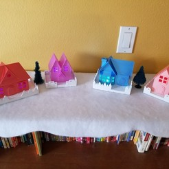 Download free 3D printer designs Christmas Putz Village, 3D_QUEEN