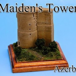 Free 3D printer model Maiden's Tower -Azerbaijan-, tokyovirtualworld