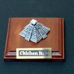 Free 3D printer model My Chichen Itza(1:2400), tokyovirtualworld