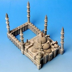 Free 3D printer files My Sultanahmet Camii(1:1000), tokyovirtualworld