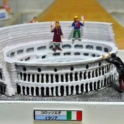 Free 3D printer model My Colosseum(1:2400), tokyovirtualworld