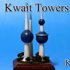 Free STL Kuwait Towers, tokyovirtualworld