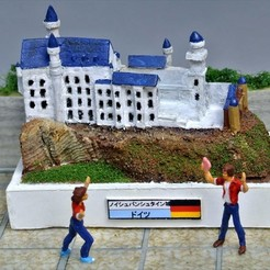 Free 3D printer designs My Neuschwanstein(1:2400), tokyovirtualworld