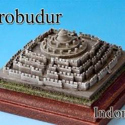 Free 3D printer model Borobudur ‐Indonesia‐, tokyovirtualworld