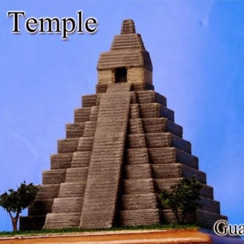 Free 3D printer files Tikal Temple in Guatemala, tokyovirtualworld