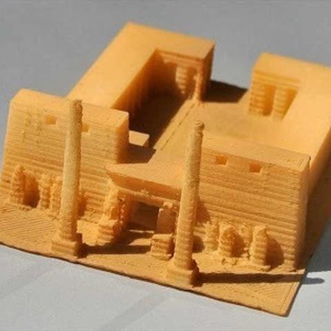 Imprimir en 3D gratis Mi Templo Luxor (1:1000), tokyovirtualworld