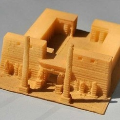 Free 3D printer files My Luxor Temple (1:1000), tokyovirtualworld