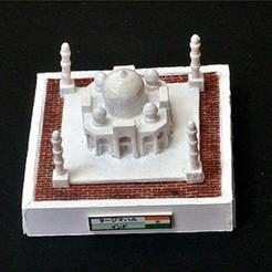 Free 3D printer model My TajMahal(1:2400), tokyovirtualworld