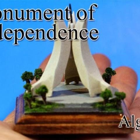Free STL Monument of Independence -Algeria-, tokyovirtualworld