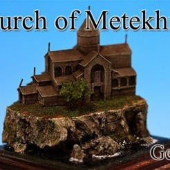 Imprimir en 3D gratis Iglesia de Metekhi -Georgia-, tokyovirtualworld