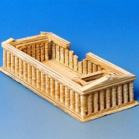 Free STL My_Parthenon(1:1000), tokyovirtualworld