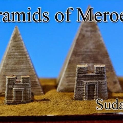 Free STL file Pyramids of Meroe ‐Sudan‐, tokyovirtualworld