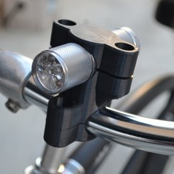 Download free STL file Yet Another Bicycle Flashlight Holder • 3D print template, Lurgnarb