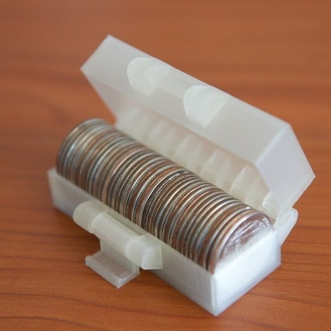 Download Free Stl File 10 Dollars Worth Of Quarters Template To 3d Print Cults