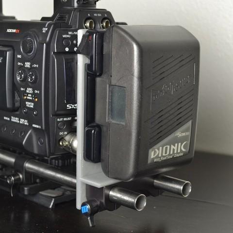 Télécharger fichier 3D gratuit Support de batterie Anton Bauer de 15 mm monté sur rail, Lurgnarb