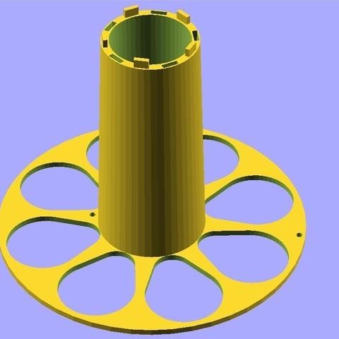 Télécharger objet 3D gratuit 2n2r5 Bobine paramétrique 2 pièces avec verrouillage - 100% imprimable, Khuxtan