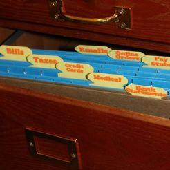 Descargar archivos 3D gratis Etiquetas de carpetas de archivos, Laevalia
