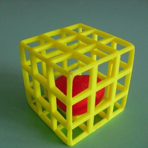 Download free STL file Heart behind bars • 3D printer design, Wailroth3D