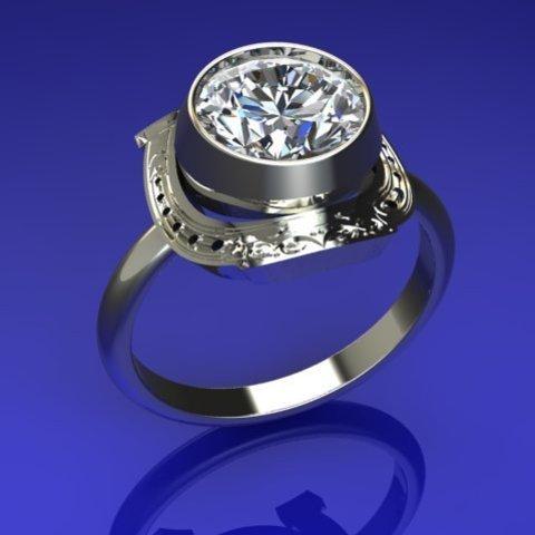 STL files horseshoe ring , veogente